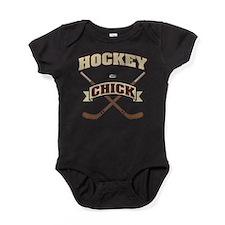 Hockey Chick Baby Bodysuit