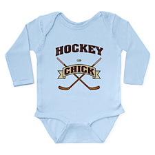 Hockey Chick Long Sleeve Infant Bodysuit