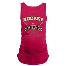 Hockey Chick Maternity Tank Top