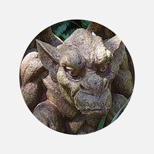 "Photo of Gargoyle Statue 3.5"" Button"