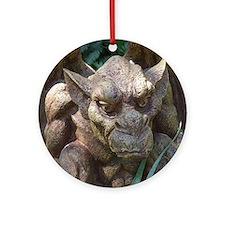 Photo of Gargoyle Statue Round Ornament