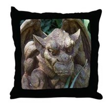 Photo of Gargoyle Statue Throw Pillow