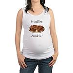 Waffles Junkie Maternity Tank Top