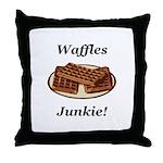 Waffles Junkie Throw Pillow