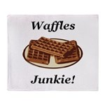 Waffles Junkie Throw Blanket