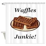 Waffles Junkie Shower Curtain