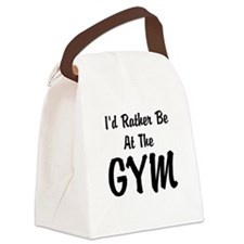 Id Rather Be At The GYM Canvas Lunch Bag