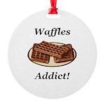 Waffles Addict Round Ornament