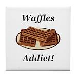 Waffles Addict Tile Coaster