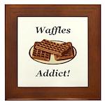 Waffles Addict Framed Tile
