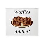 Waffles Addict Throw Blanket