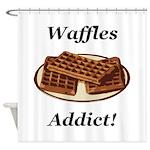 Waffles Addict Shower Curtain