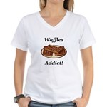 Waffles Addict Women's V-Neck T-Shirt