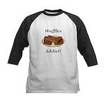 Waffles Addict Kids Baseball Jersey
