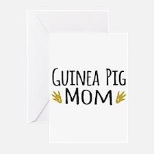 Guinea pig Mom Greeting Cards