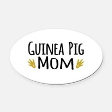 Guinea pig Mom Oval Car Magnet