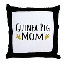 Guinea pig Mom Throw Pillow