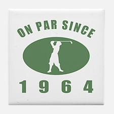 1964 Birthday Golf Tile Coaster