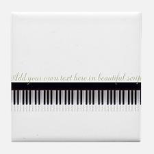 Piano Keyboard Script Tile Coaster