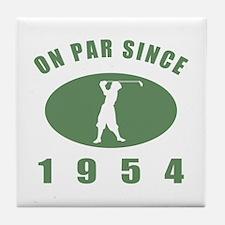 1954 Birthday Golf Tile Coaster