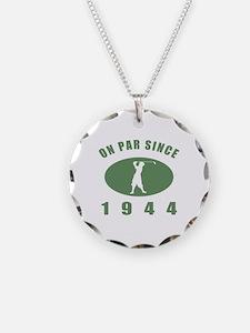 1944 Birthday Golf Necklace Circle Charm