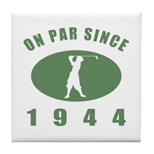 1944 Birthday Golf Tile Coaster