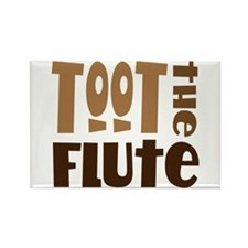 Funny Toot The Flute Rectangle Magnet