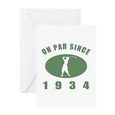 1934 Birthday Golf Greeting Card