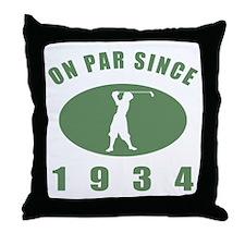 1934 Birthday Golf Throw Pillow