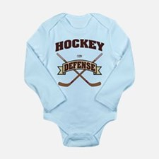 Hockey Defense Long Sleeve Infant Bodysuit