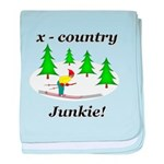 X Country Junkie baby blanket