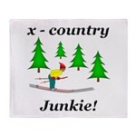 X Country Junkie Throw Blanket