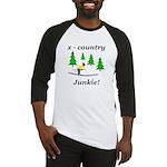 X Country Junkie Baseball Jersey