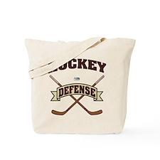 Hockey Defense Tote Bag