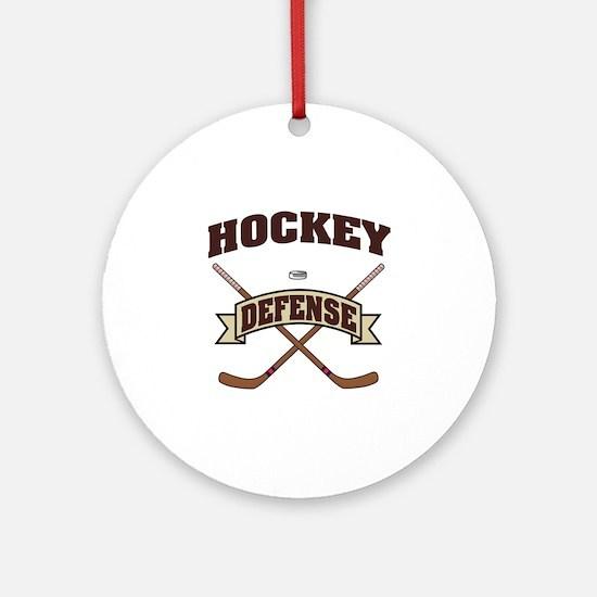 Hockey Defense Ornament (Round)