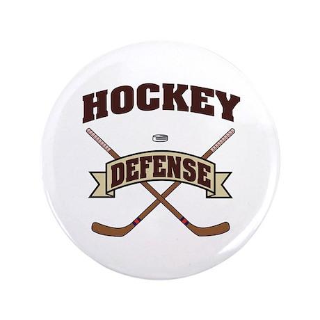 "Hockey Defense 3.5"" Button"