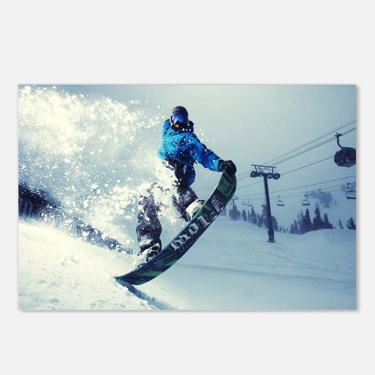 Snowboard extreme Postcards (Package of 8)