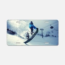 Snowboard extreme Aluminum License Plate