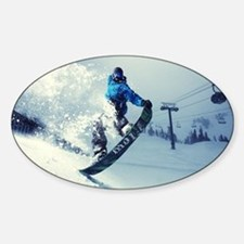Snowboard extreme Sticker (Oval)