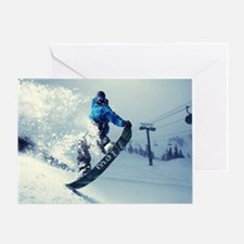 Snowboard extreme Greeting Card