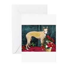 Greyhound Christmas Kaityln Greeting Cards (Packa