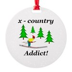 X Country Addict Round Ornament