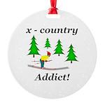 X Country Addict Round Ornament