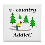 X Country Addict Tile Coaster