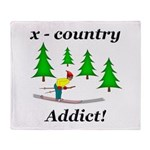 X Country Addict Throw Blanket