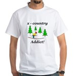 X Country Addict White T-Shirt
