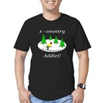 X Country Addict Men's Fitted T-Shirt (dark)