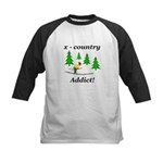 X Country Addict Kids Baseball Jersey