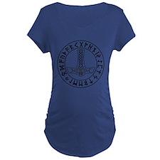 Mjölnir Rune Shield Maternity T-Shirt