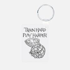 TRAIN HARD Keychains